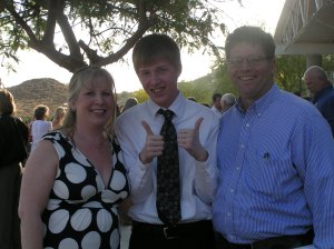 Jake, Hubby and me!!!!