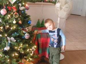 My grandson at christmas time!