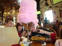 Huge cotton candy desert!